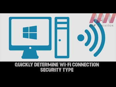 How to Quickly Determine Wi-Fi Connection Security Type on Windows 10