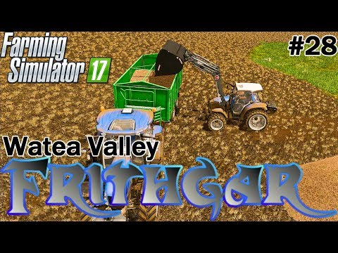 Let's Play Farming Simulator 2017, Watea Valley #28: Loading The Wood Chips!