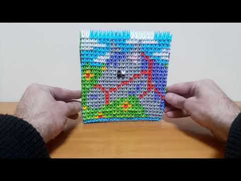 Двусторонние картинки модульное оригами