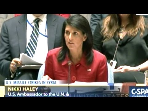 U.N. Security Council Meeting On United States. Bombing Syria.