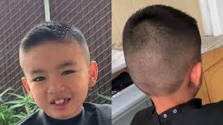 Cắt tóc ngắn đẹp cho bé trai