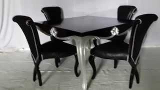 Black And Silver Dining Set - Vixidesign.com