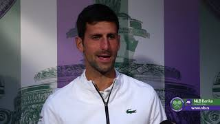 Novak Đoković Posle Pobede nad Gofanom   Wimbledon 2019.   SPORT KLUB Tenis