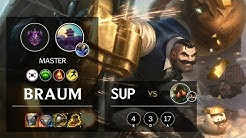 Braum Support vs Nautilus - KR Master Patch 10.7