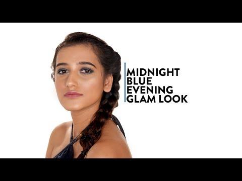 Shimmery Midnight Blue Eye Makeup