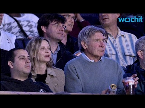 Calista Flockhart and Harrison Ford  Off PDA for the Lakers Kiss Cam