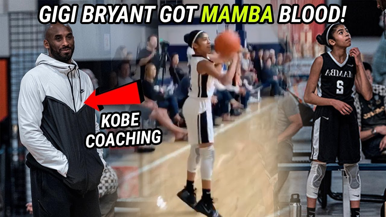 a86d0ce2ba73 Kobe Bryant s 12 Year Old Daughter Has The MAMBA MENTALITY! Gigi Bryant  Balls Out For Dad 🔥