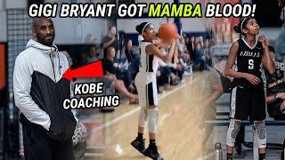 Kobe Bryant's 12 Year Old Daughter Has The MAMBA MENTALITY! Gigi Bryant Balls Out For Dad 🔥