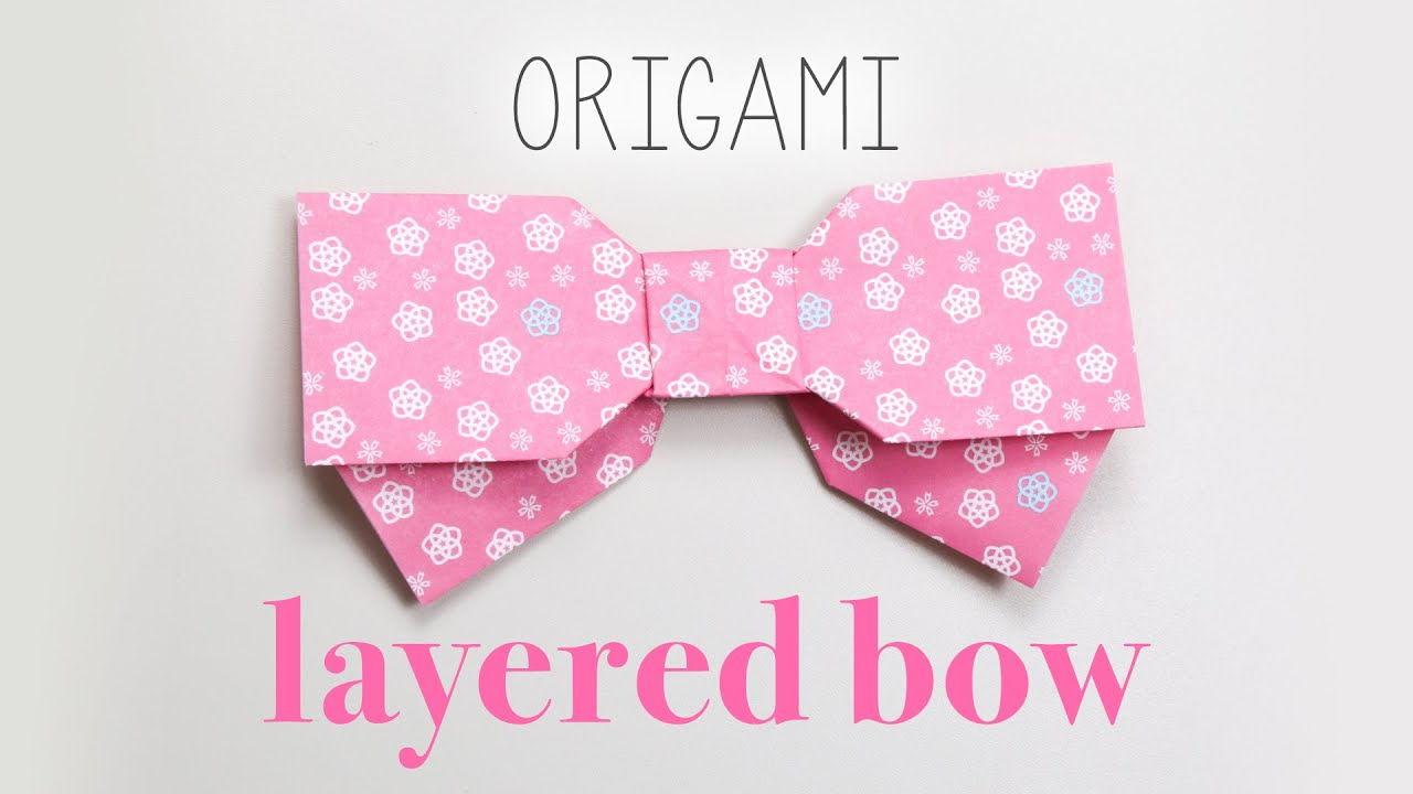 Origami Layered Bow Tutorial DIY