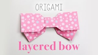 Origami Layered Bow Instructions
