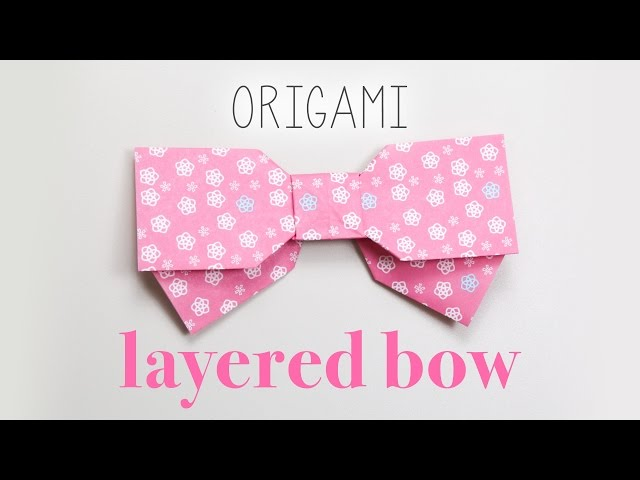 Origami Layered Bow Tutorial 🎀 DIY 🎀