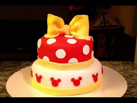 How to make a Minnie Mouse Cake YouTube