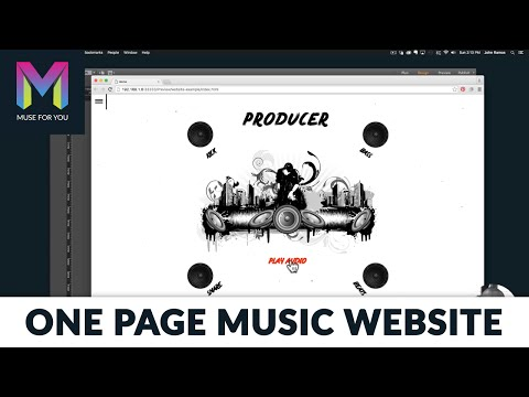 Building a One Page Music Website from Scratch with No Code  Adobe Muse CC  Muse For You