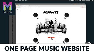 Building a One Page Music Website from Scratch with No Code | Adobe Muse CC | Muse For You
