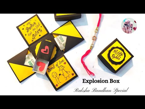 Explosion Box For Raksha Bandhan || Gift Box For Brother || Explosion Box Tutorial