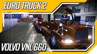 Euro Truck Simulator 2 - Viagem com Mod Caminhão Volvo VNL 660 no Mapa TSM