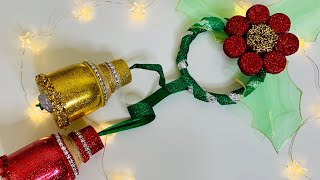 Canas Navideñas con Botellas plásticas christmas decoration from plastic bottles ️