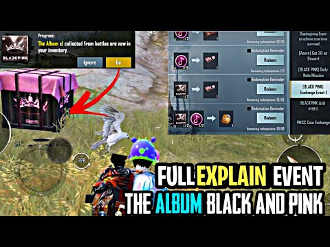 PUBG KOREA VERSION HOW TO GET ALBUM BLACK AND PINK COMPLETE EXCHANGE EVENT FULL EXPLAIN  SOUND NOTE