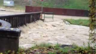 Alluvione a Feltre Viale Marconi