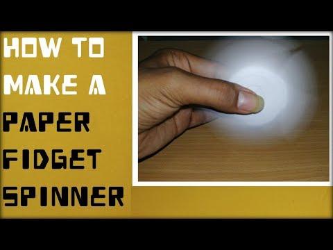 HOW TO MAKE PAPER FIDGET SPINNER..???