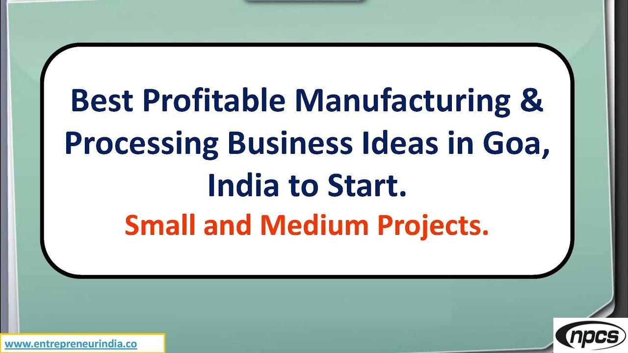 Business Ideas In Goa India
