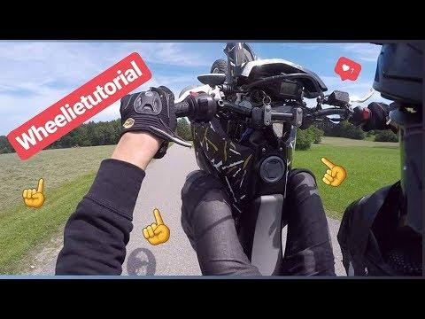 Wie mache ich Wheelies mit meiner Yamaha Wr 125 R ? Tutorial | Stuntvlog