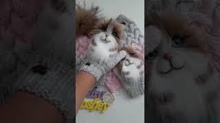 Варежки с котами