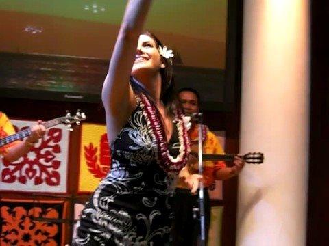 Miss Hawaii USA 2008 Jonelle Layfield dancing I Kona