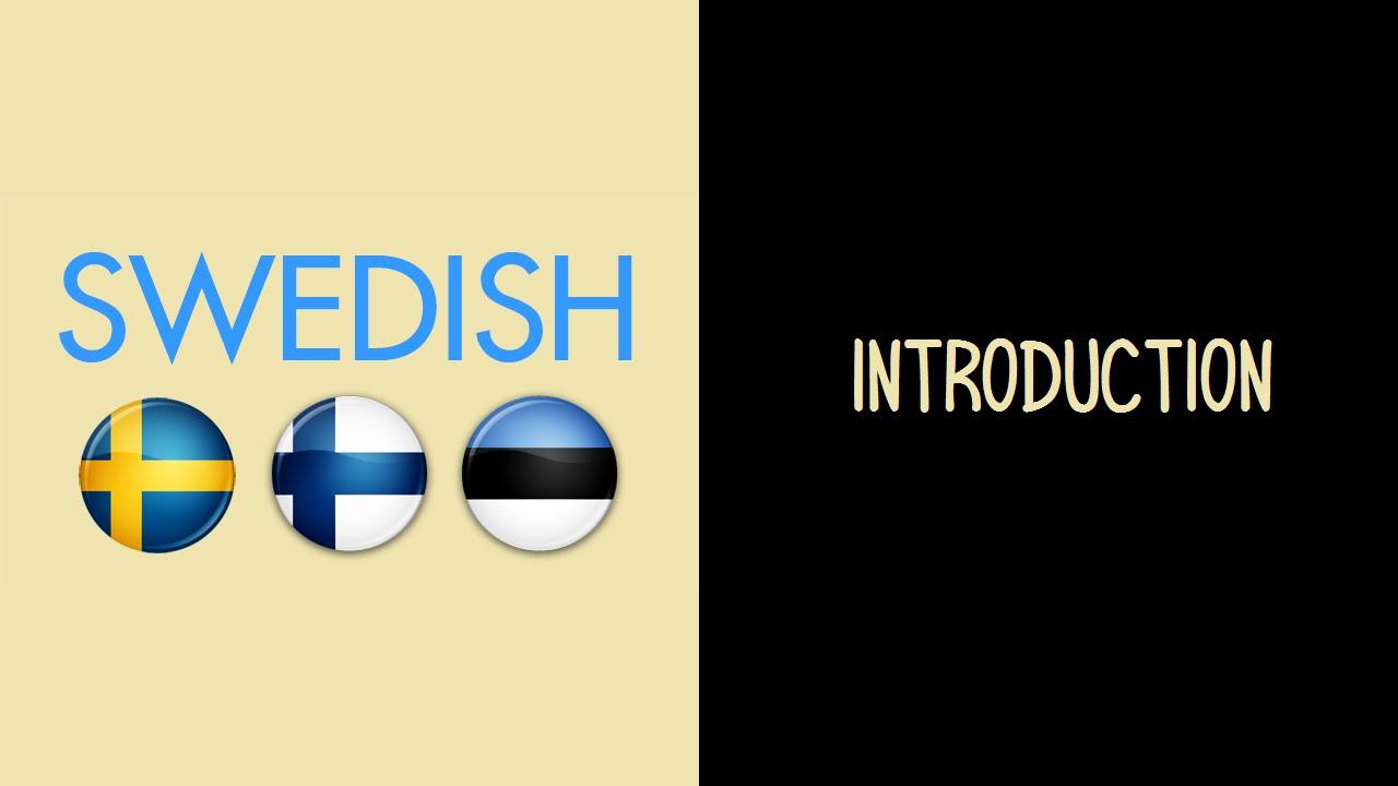 مقدمة في اللغة السويدية