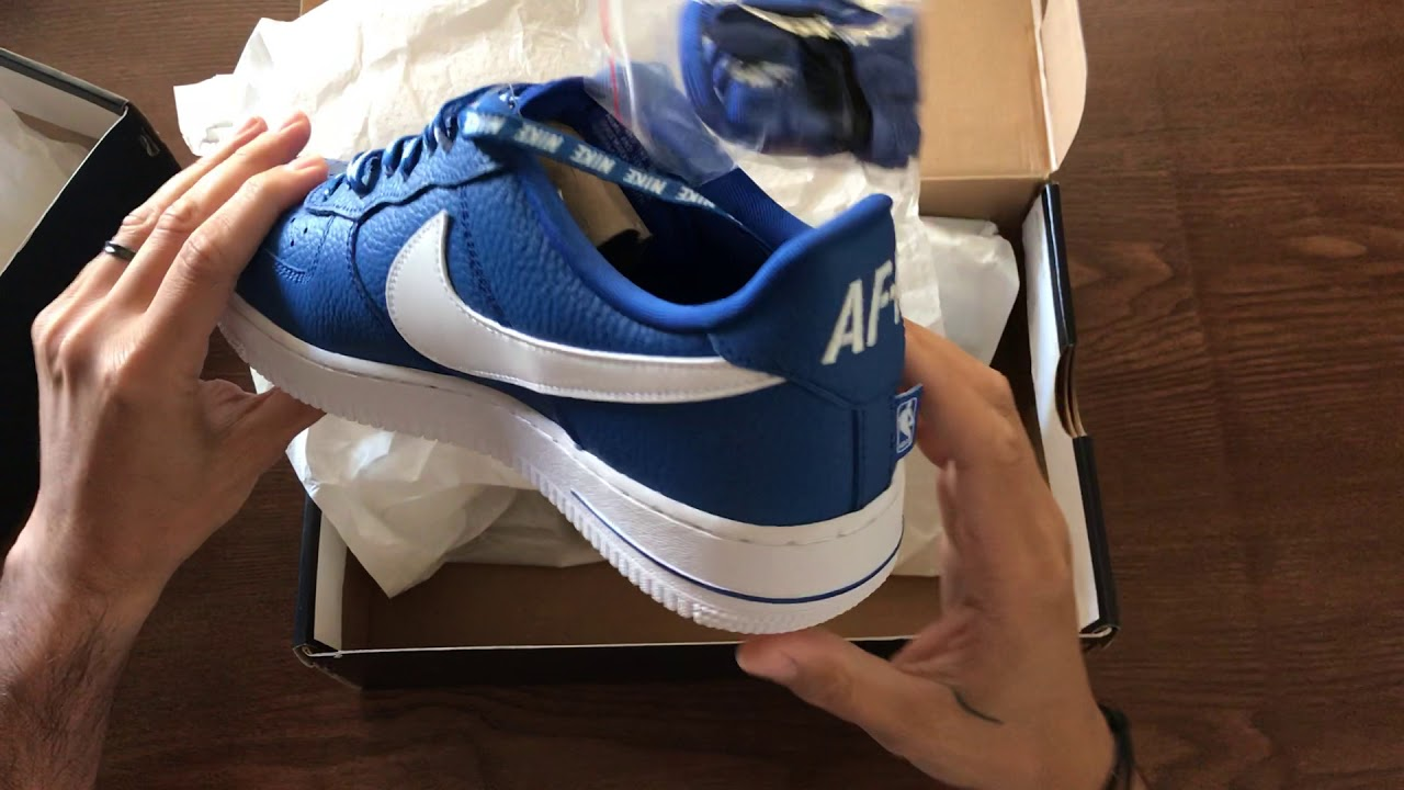 c8dc636a8074 Air Force 1 NBA Edition Unboxing - YouTube