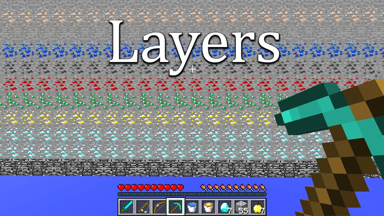 Minecraft UHC however, the world is in layers