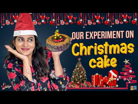 Our Experiment On Christmas Cake Christmas special Celebration Recipe Its Himaja