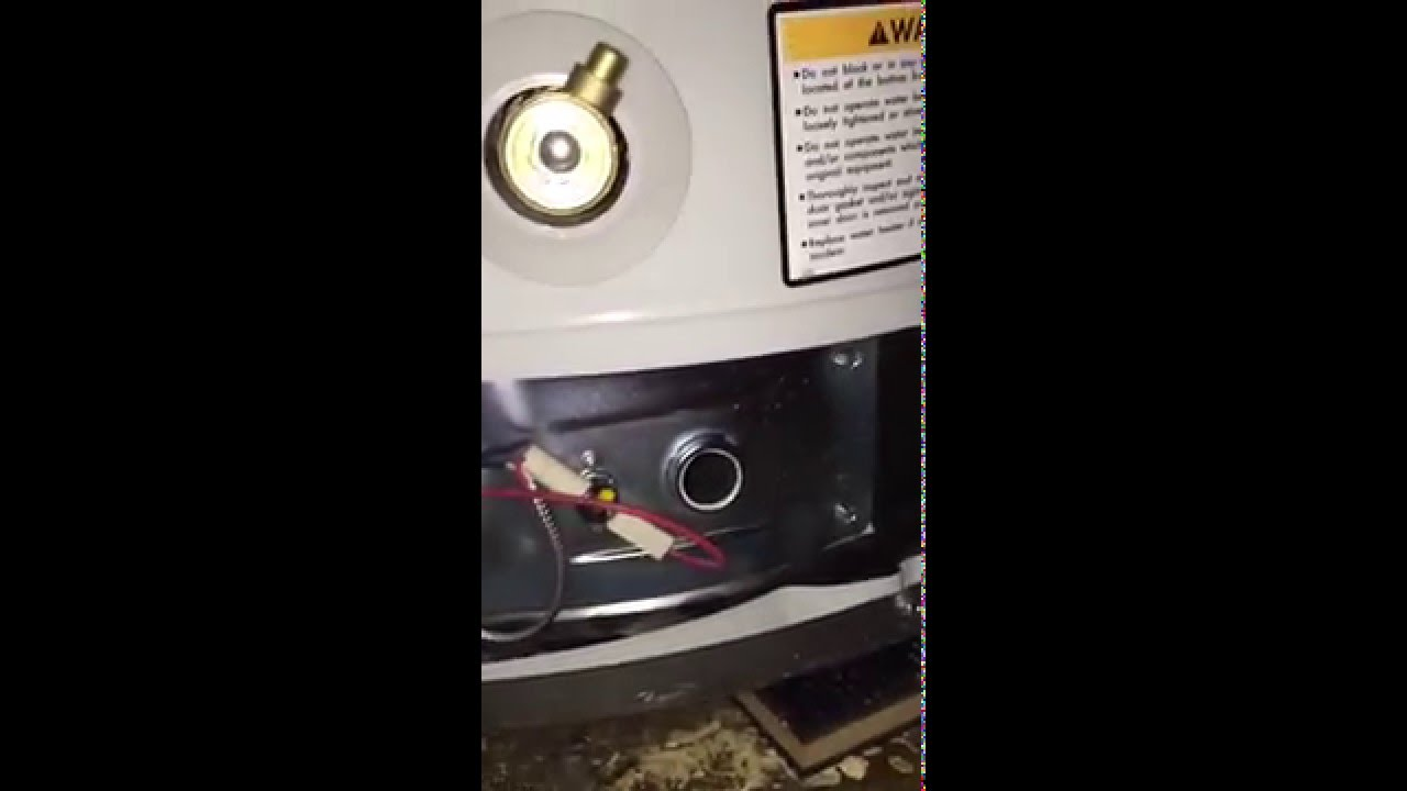 & How to Turn on your Water Heater Pilot Light - Bradford White - YouTube
