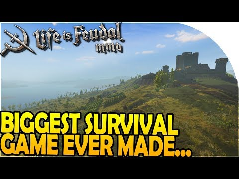 *NEW* BIGGEST SURVIVAL GAME EVER MADE (Absolutely MASSIVE MAP!) - Life is Feudal MMO Gameplay