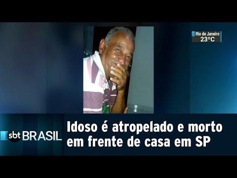 Idoso é atropelado e morto em frente de casa em São Paulo | SBT Brasil (30/08/18)