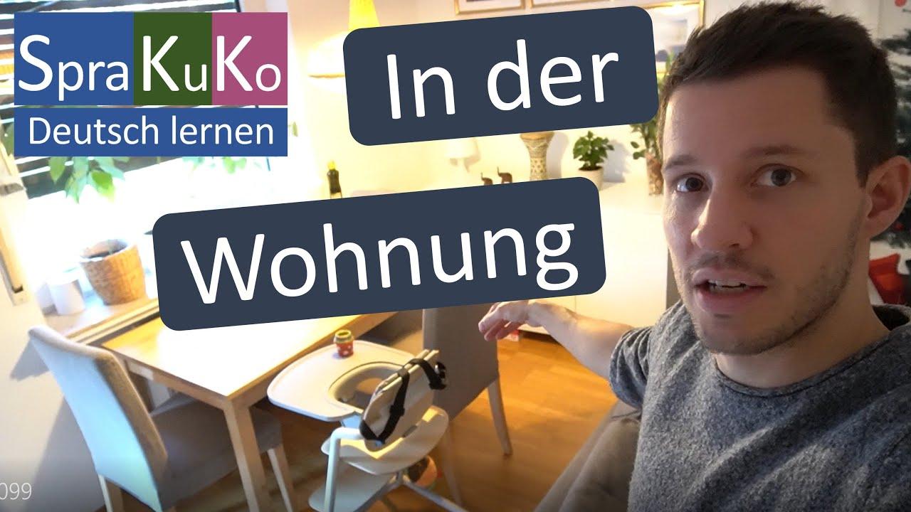 Deutsch lernen   In der Wohnung   Wortschatz Möbel / Einrichtungsgegenstände