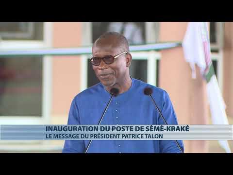 Patrice Talon à l'inauguration du poste de contrôle juxtaposé de Sèmè-Kraké