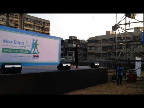 MickeyMizing participants of MaxBupa 'Walk For Health', Mumbai