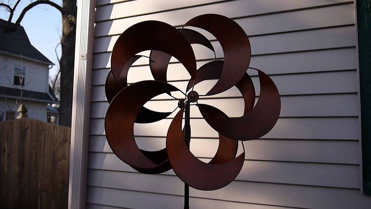 Costco Metal Wind Spinner Kinetic Garden Sculpture   YouTube