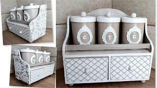 DIY /Beautiful plastic cans decoration idea/Cardboard crafts