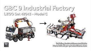 GBC 9 Industrial Factory + PDF Building Instructions - 42043 C Model Mercedes-Benz Arocs 3245