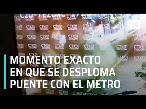 Momento exacto en que se desploma estructura de la estación Olivos Línea 12 del Metro CDMX -En Punto