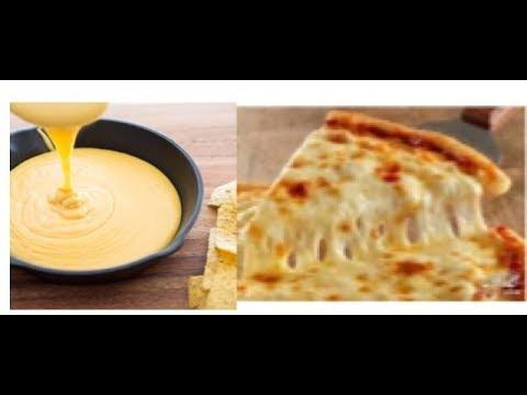الوصفه السريه لتحضير جبنه البيتزا المطاطية الشهيه والموفره وطريقه عمل صوص الجبن