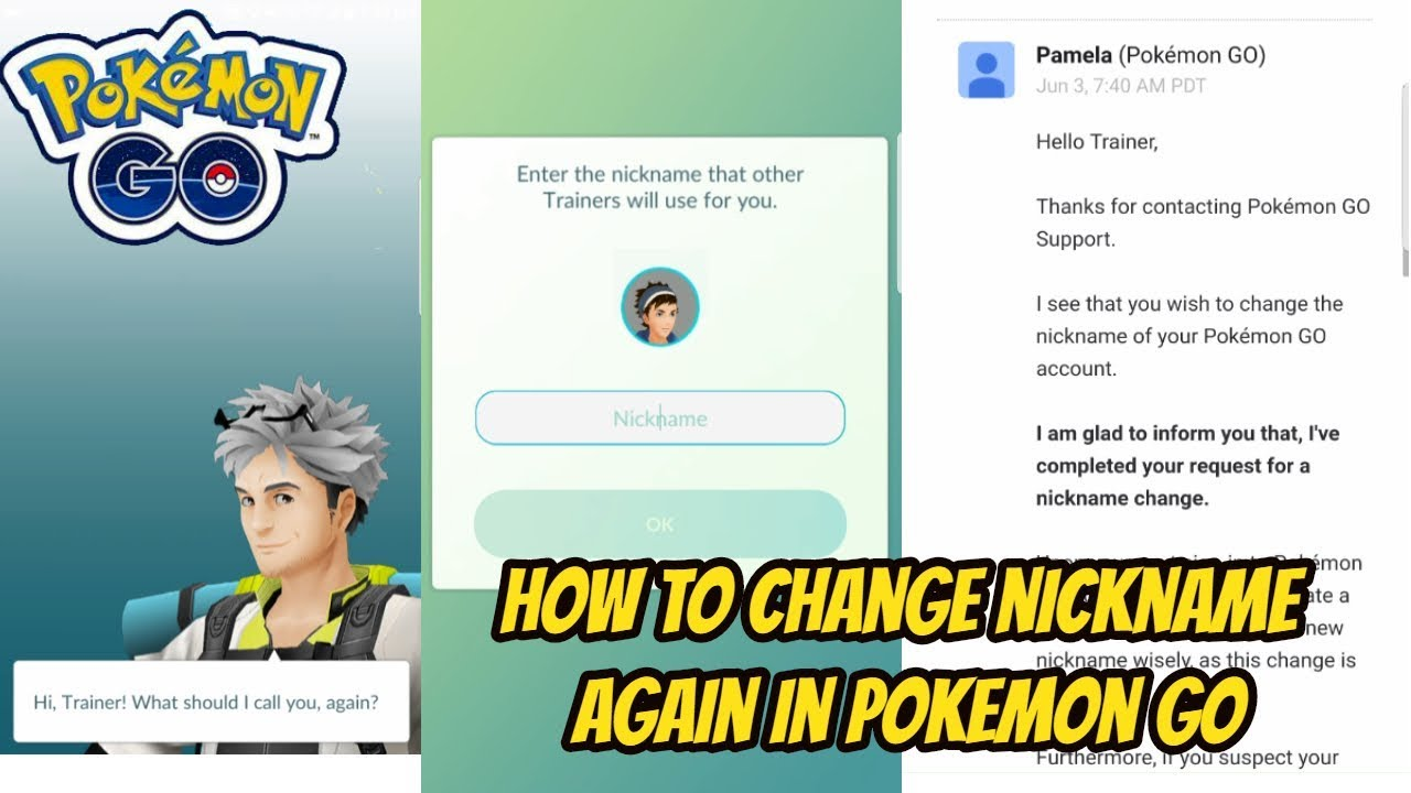 how to change youtube name to nickname