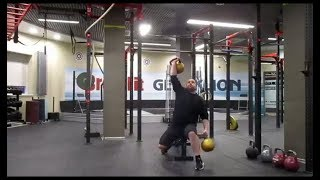 Доношение гирями сидя - 96кг. Попытка на 101,5кг.Seated two hands anyhow-96kg. 101,5kg attempt