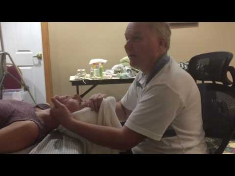 Traction (spontaneous subluxation release) to release restriction in the back. CEU Workshop