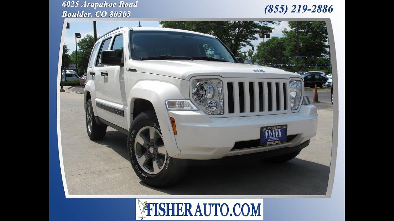 2008 jeep liberty sport white | $15,900* | boulder, colorado