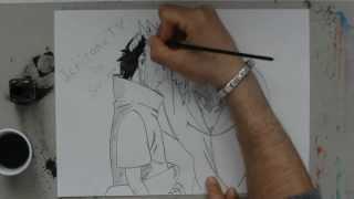 Speed drawing Sasuke & Itachi for IchirakuTV -Naruto-