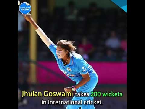 Jhulan goswami first indian women who take 200 wickets in the world.
