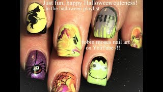 5 Nail Art Tutorials   Diy Easy Halloween Nails
